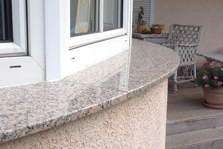 Referenzen runde Granit Außenfensterbank